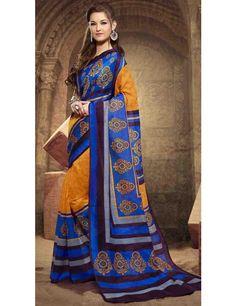 Attractive Blue Silk Saree