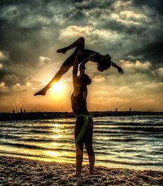beach acro