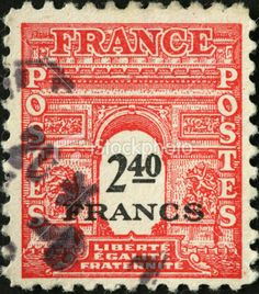 Arc de Triumph, Paris, on a French stamp French Artwork, Ink Transfer, French History, Red Balloon, Paris Photos, Background Vintage, Vintage Labels, Funny Faces, Book Series