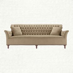 "Fiona 97"" Tufted Upholstered Sofa In Xanadu French Vanilla"