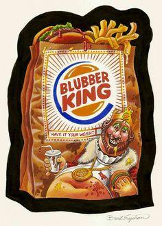 Blubber King   Wacky Packages artwork
