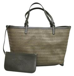 Get one of the hottest styles of the season! The Gucci Bag W Craft Handbag W/Pocket Large 247207 Green Straw/Leather Tote is a top 10 member favorite on Tradesy. Save on yours before they're sold out! New Gucci Bags, Gucci Handbags, Louis Vuitton Handbags, Tote Handbags, Gucci Gucci, Green Handbag, Straw Tote, Large Handbags, Tote Bag