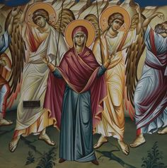 By Violeta Nanova and Ivica Davidovski Orthodox Icons, Fresco, Vignettes, Princess Zelda, Paintings, Fictional Characters, Art, Byzantine Icons, Art Background