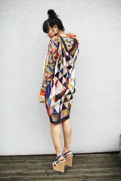 mismatched geometric prints