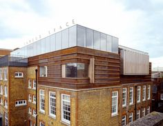 The Jerwood Space - London, United Kingdom. New rooftop architecture by Alfred Munkenbeck; on top of the original Paxton Locher refurbishment