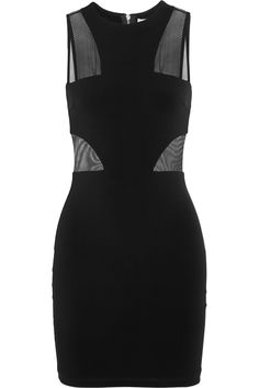 Elizabeth and James | Gwen mesh-paneled stretch-jersey mini dress | NET-A-PORTER.COM