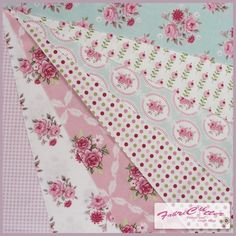 Tilda Fabric Pink/Teal Bundle - 32 cm squares pack of 7 pieces. £11.99, via Etsy.