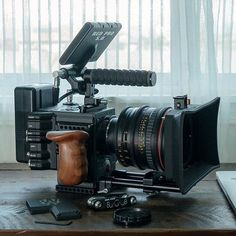 Beautiful RED Camera setup by Cannon Camera, Camera Rig, Leica Camera, Camera Gear, Vlogging Equipment, Camera Equipment, Cinema Camera, Film Camera, Video Camera