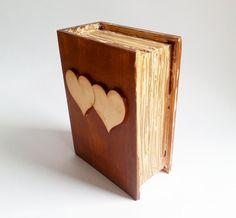 Wedding rings box/engagement ring box book by MKedraHandmade, $35.00