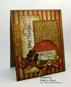 Being Thankful for you card