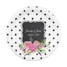 Polka Dots and Peonies Wedding Paper Plate  sc 1 st  Pinterest & Disco Ball Princess Coach \u0026 Horses Wedding Paper Plate | Teal ...