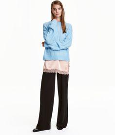 Wide-leg Pants | Black | Ladies | H&M US