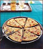 socca or chickpeas flour pizza
