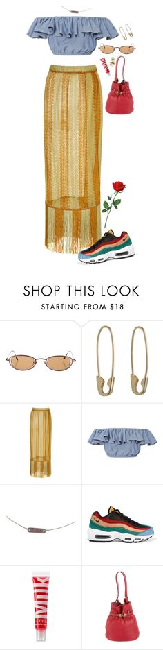 """""""Island vibes🌴"""" by niaradiva ❤ liked on Polyvore featuring Loren Stewart, Missoni Mare, MDS Stripes, Christian Dior, NIKE, MILK MAKEUP, Gucci and Bernard Delettrez"""