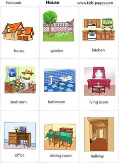 Household items flashcards