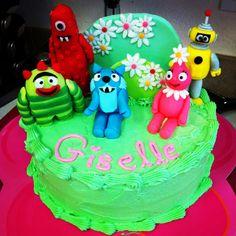 """Yo Gabba Gabba"" cake made for a five year old girl via www.cake4kids.org  Hope she enjoys it!"