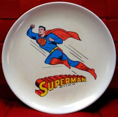 "FOR SALE DC Comics SUPERMAN 1966 Melmac Dinnerware 8"" #QualityComicsAmerica"