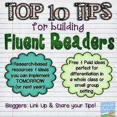 Teaching With a Mountain View: Top 10 Tips for Building Fluent Readers + Link Up!