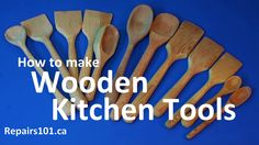 Making wooden kitchen tools for cooking, display and gifts. Focusing on a basic spatula and an advanced skills spoon. Transcript provided for the hearing imp...