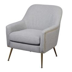 Shop Lifestorey Vita Accent Chair - On Sale - Overstock - 20227930 Upholstered Dining Chairs, Chair And Ottoman, Mid Century Armchair, Papasan Chair, Parsons Chairs, Barrel Chair, Grey Chair, Modern Rustic Interiors, Living Room Chairs