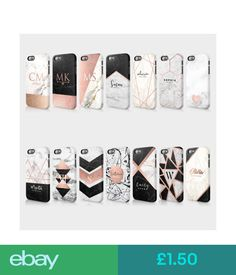 Cases & Covers Personalised Marble Gold Bling Glitter Initials Custom Case For Huawei #ebay #Electronics