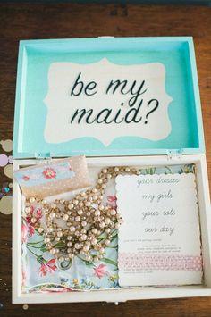 Bridesmaid Memory Box! Invite your Bridesmaid