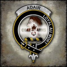 Adair Family Crest - Scottish Badge
