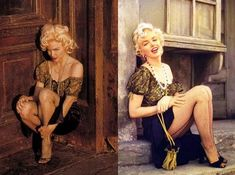 Another direct detailed Marilyn Monroe rip off by Madonna