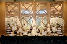 gold champagne theme reception Casa Del Mar Santa Monica Hotels Wedding Kevin Le Vu Photography 83