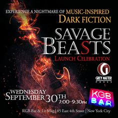 Immerse yourself in a nightmare of dark fiction with authors Daniel Braum, Shawn Macomber, Nicholas Kauffman, James Chalmbers and more at KGB Bar & Lit Mag in NYC on Wednesday, September 30, 2015.