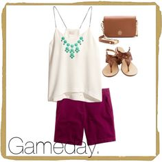 Cute gameday outfit for the hotter months!