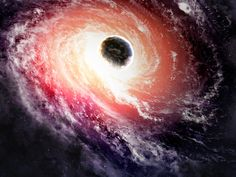 In deep space, there lies a wandering black hole moving from galaxy to galaxy, absorbing matter at a relentless rate.