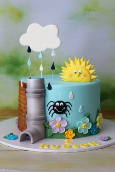 Cakes by Lisa---my son would LOVE this cake Cake Icing, Eat Cake, Cupcake Cakes, Fondant Cakes Kids, Pretty Cakes, Cute Cakes, Super Torte, Spider Cake, Novelty Cakes