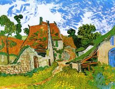 Van Gogh Auvers Village Street Painting Art