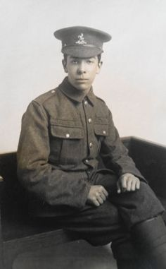 WW-I-British-RPPC-A-Private-in-The-Queens-Own-Royal-West-Kent-Regiment World War I, Trench, Queens, Captain Hat, British, History, Hats, World War One, Historia