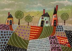 3 Houses 1 by Karla Gerard