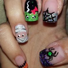 Pin for Later: 101 Idées de Nail Art Spécial Halloween  Source: Instagram user glitter_doctor
