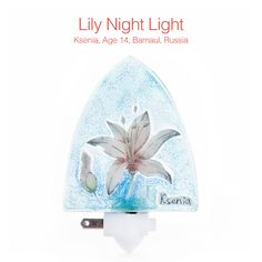 This bright, calm night light is the answer to your dark-spaces problem! A fair trade product made using recaptured glass, the Lily Night Light beautifully illuminates Ksenia's floral art (Item 381117, $23). The Children's Art Project offers merchandise inspired by the artwork of Children's Cancer Hospital patients at The University of Texas MD Anderson Cancer Center. Net proceeds support patient programs for children with cancer.