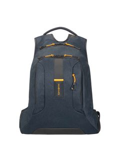 Samsonite Paradiver Navy Laptop Backpack - House of Fraser Vans Backpack, Luggage Backpack, Laptop Backpack, Samsonite Luggage, Casual Outfits For Teens, Jeans, Backpacks, Stylish, Yellow