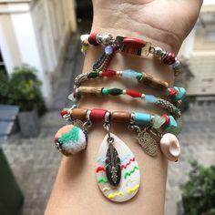 Bijou 2 en 1 : bracelet/collier fantaisie