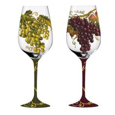 Wine Collage,Handpainted Wine Glass 12 oz,Glass,3.75x9 Inches,Assorted 2 by Cypress Home, http://www.amazon.com/dp/B0061XPHTY/ref=cm_sw_r_pi_dp_oYZmsb0CQTG66