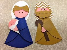 Pin by おかだみなこ on 折り紙 切り紙 Christmas Crafts For Kids, Xmas Crafts, Felt Crafts, Christmas Decorations, Christmas Nativity Scene, Felt Christmas, Christmas Ornaments, Punch Art Cards, Nativity Crafts