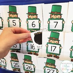 Where's the Gold? {A St. Patrick's Day Freebie} | This is a fun FREE activity that will add some St. Patrick's Day fun to your classroom! Best of all, this resource includes two versions of the activity! The purpose of the game is to hide the pot of gold behind a number (0-30), and then have the students guess where the pot of gold is by naming the number. It's great for number recognition practice, especially for those tricky teens! Use it today with your preschool or Kindergarten students.
