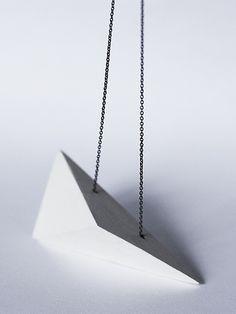 MARIE-MAUDE BRUNET-(Marmod8)- CANADA - PAPER PLANE necklace - ceramic and silver
