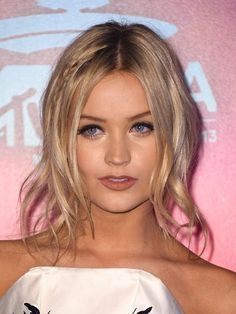 Laura Whitmore attends the MTV EMA's 2013.