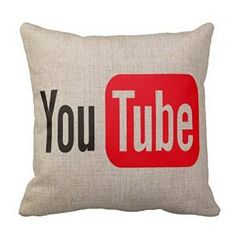 Amazon.com: Hijones Cotton Linen Decorative Pillow Cushion Covers Car Sofa Creative You Tube Pattern 18x18 Inch: Bedding & Bath