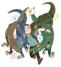 blue chris pratt Raptors charlie echo Owen jurassic park 4 delta Jurassic World sodam-art Jurassic World Raptors, Jurassic Movies, Jurassic Park World, Dinosaure Herbivore, Dinosaur Art, Prehistoric Creatures, T Rex, Cute Art, Fanart