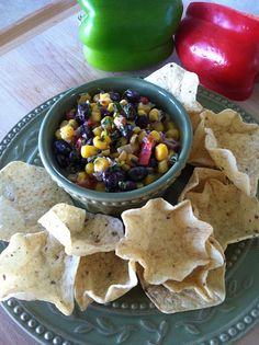 this corn salsa sounds amazing and there is a jalepeno artichoke dip that I must try also