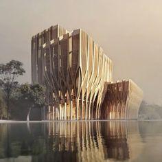 Sleuk Rith Institute. Phnom Penh. Cambodia. Zaha Hadid