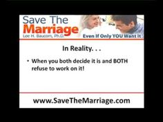 Is Your Marriage Too Far Gone? - WATCH VIDEO HERE -> http://bestdivorce.solutions/is-your-marriage-too-far-gone    SAVE YOUR MARRIAGE STARTING TODAY (Click for more info…)   You want to save your marriage, but ask if it's too far away? Learn to know here. Can you save your marriage? Answer here.    Video credits to Lee Baucom YouTube channel